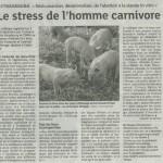 """Article dans les DNA : """"le stress de l'homme carnivore"""""""